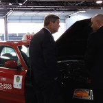 Secretary Vilsack learned about the propane Autogas vehicle conversion process in a demonstration on a Red Top Cab